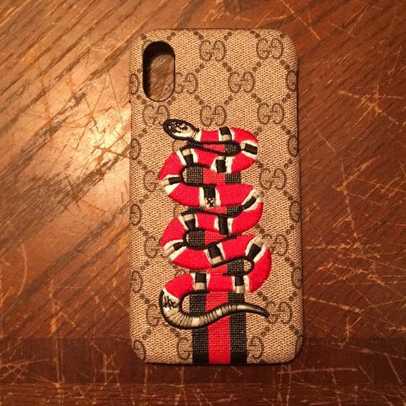 reputable site 09341 d1e35 Custom iPhone X Gucci Snake Case NWT